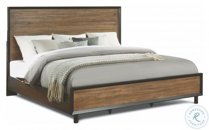 Alpine Walnut and Rustic Panel Bedroom Set