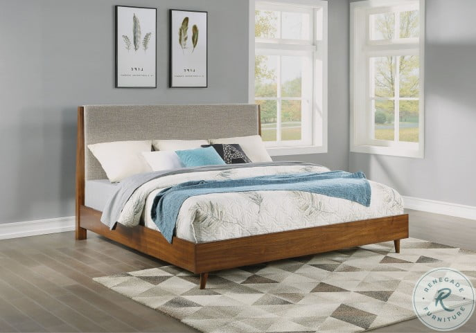 Ludwig Brown Upholstered Panel Bedroom Set
