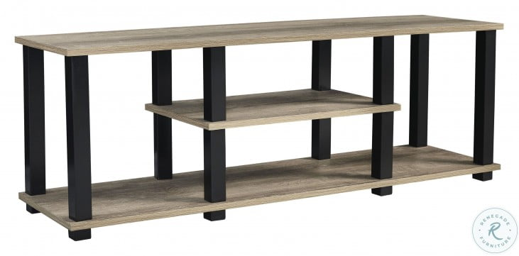 """Waylowe Natural and Black 48"""" TV Stand"""