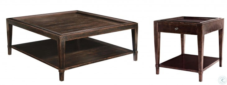 Vintage Patina Molasses Square Cocktail Table From