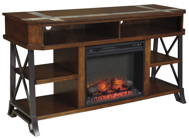Vinasville LG TV Stand With Fireplace Insert