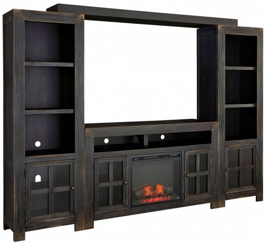 Gavelston Entertainment Wall with Fireplace Option