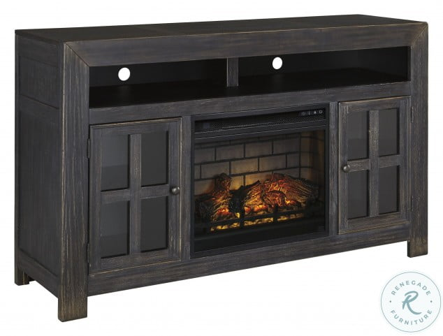 Gavelston Lg TV Stand With Fireplace Insert