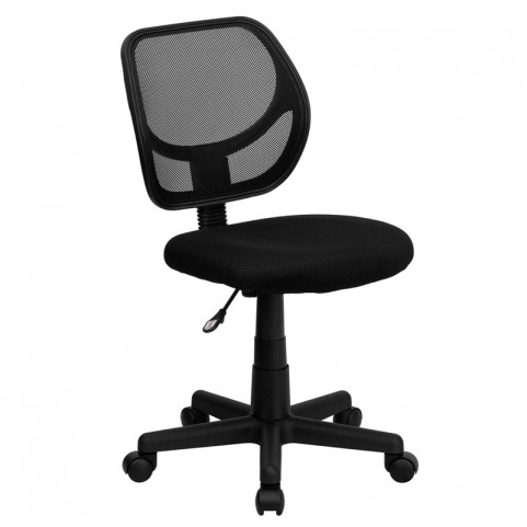 Mid-Back Black Task Chair and Computer Chair