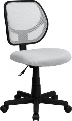Mid-Back White Task Chair and Computer Chair