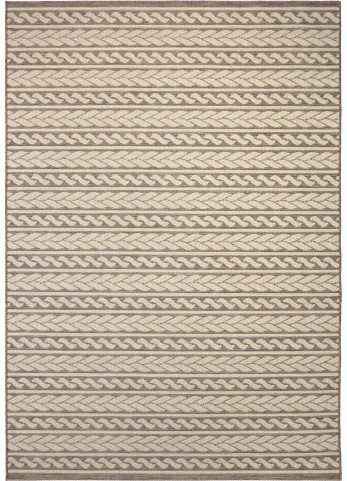 Jersey Home Indoor/Outdoor Knit Cableknots Tan Small Area Rug