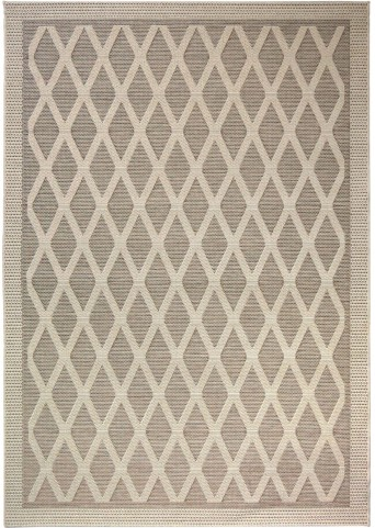 Jersey Home Indoor/Outdoor Diamonds Regal Dimension Tan Small Area Rug