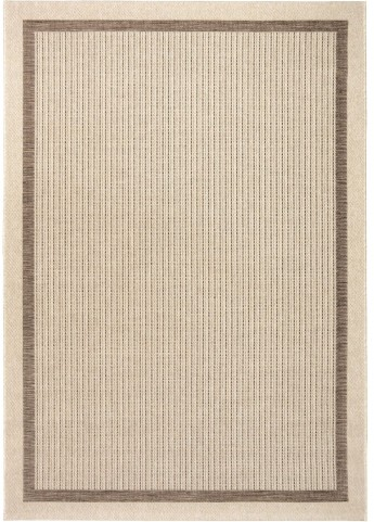 Jersey Home Indoor/Outdoor Border Aviva Tan Large Area Rug