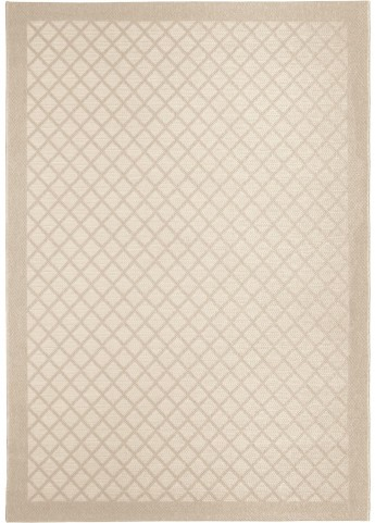 Orian Rugs Indoor/ Outdoor Squares Fusion Trellis ivory Area Large Rug