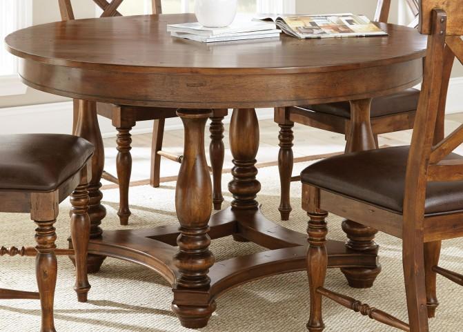 Wyndham Medium Cherry Round Dining Table