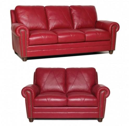 Weston Italian Leather Living Room Set