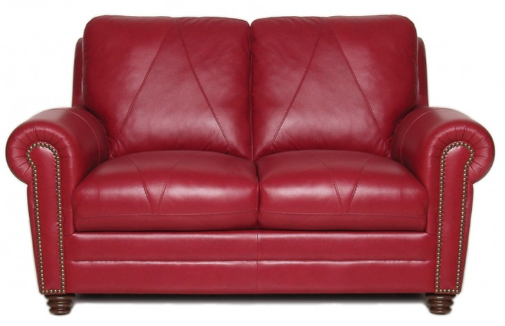 Weston Italian Leather Loveseat