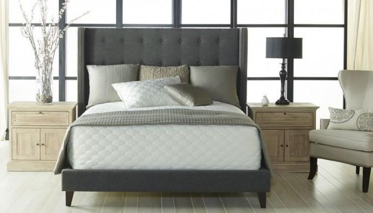 Weston Espresso Sepia Fabric Platform Bedroom Set