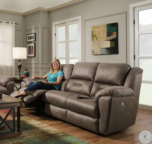 Pandora Latte Power Headrest Reclining Living Room Set