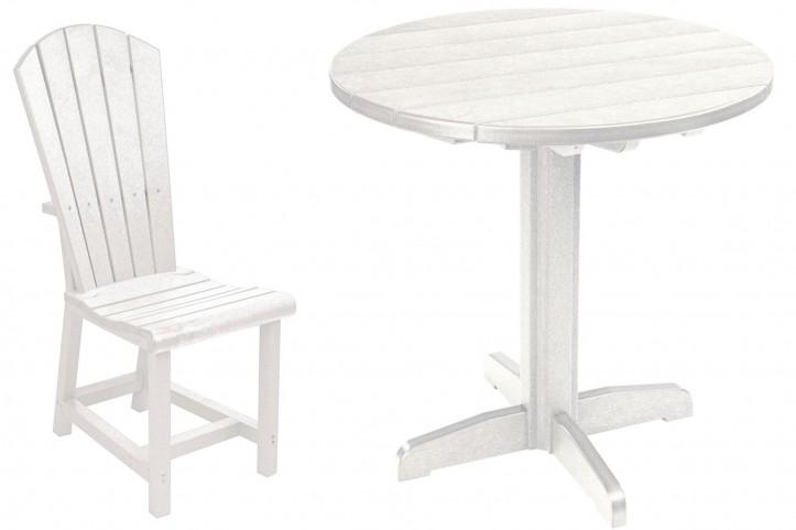"Generations White 37"" Round Pedestal Dining Room Set"