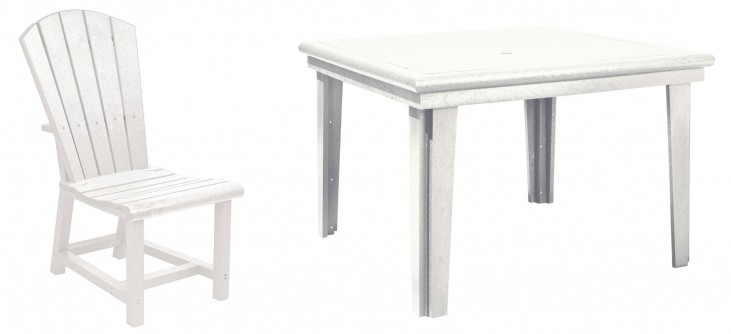"""Generations White 46"""" Square Dining Room Set"""