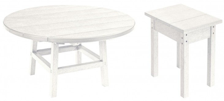 """Generations White 37"""" Round Occasional Table Set"""
