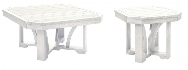 "St Tropez White 35"" Occasional Table Set"