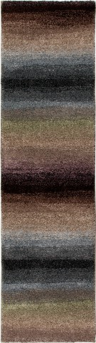 Wild Weave Plush Stripes Skyline Multi Medium Area Rug