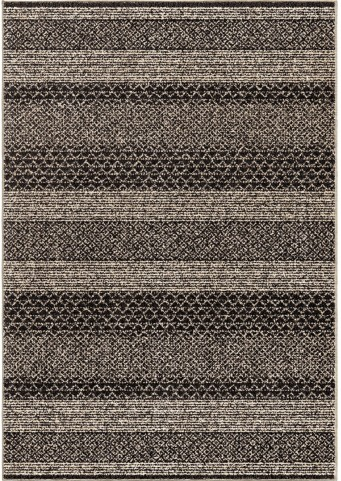 Wild Weave Plush Chevron Stavanger Black Large Area Rug