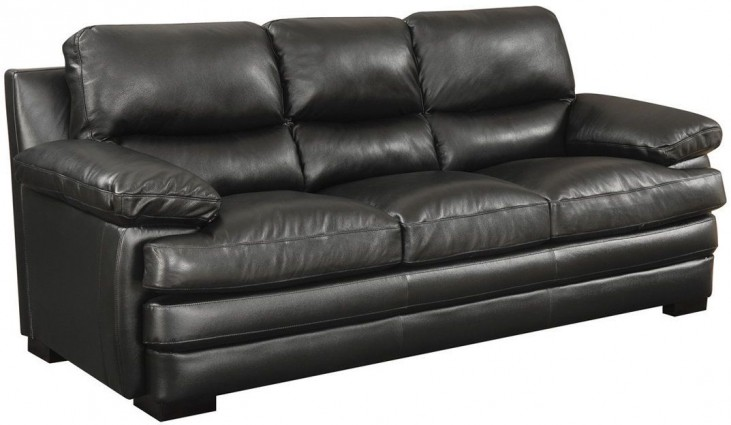 Wilton Black Leather Power Reclining Sofa From Jennifer Furniture