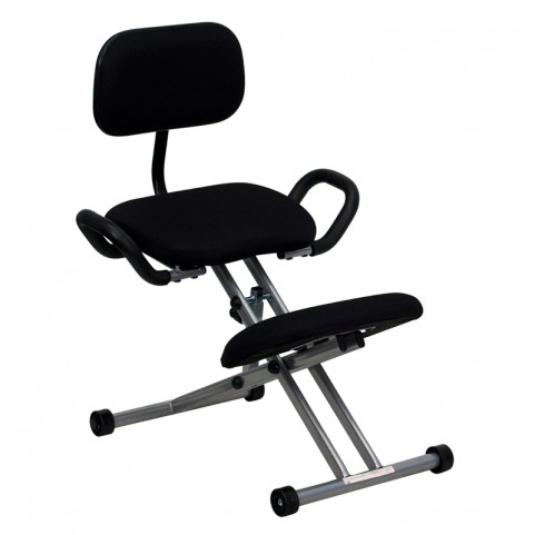Ergonomic Kneeling Handles in Black Chair