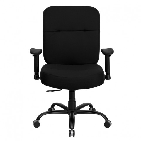 Hercules 500 lb. Capacity Big & Tall Black Office Chair with Arms and Extra WIDE Seat