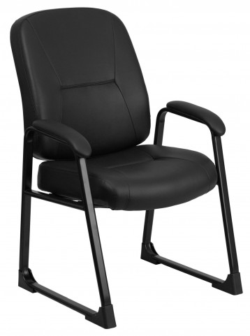 10001497 HERCULES Big & Tall Black Executive Side Chair