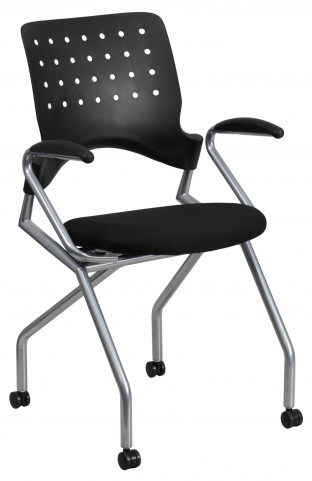 Galaxy Mobile Black Arm Nesting Chair