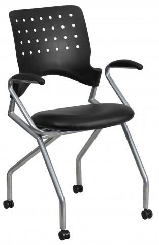 Galaxy Mobile Arm Nesting Black Chair