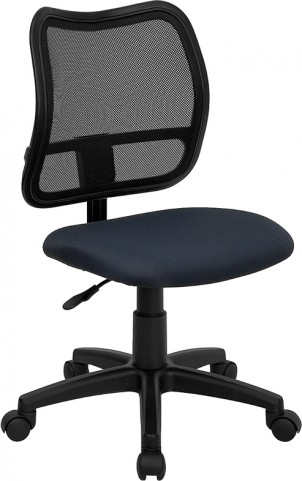 Mid-Back Navy Blue Fabric Adjustable Task Chair
