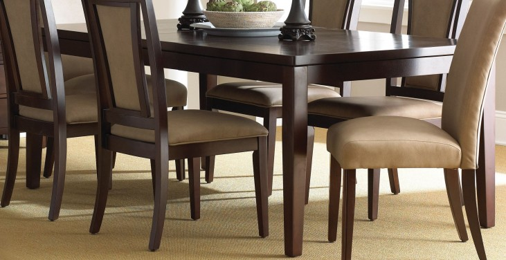 Wilson Merlot Cherry Extendable Rectangular Dining Table