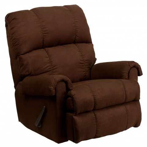 Flatsuede Chocolate Microfiber Rocker Recliner