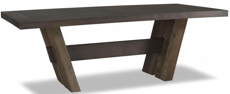 Winston Zinc Top Rectangular Dining Table