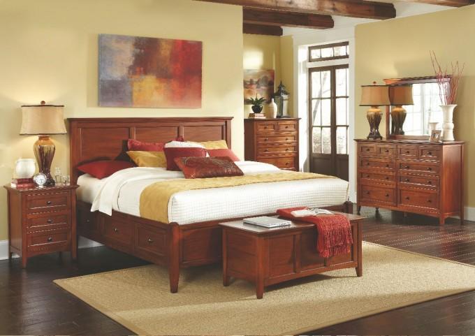 Westlake Cherry Brown Storage Bedroom Set