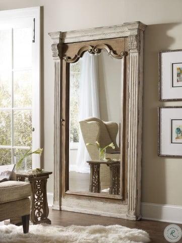 Chatelet Off White Jewelry Armoire Storage Floor Mirror