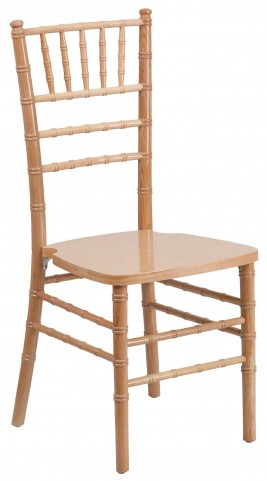 Flash Elegance Natural Wood Chiavari Chair