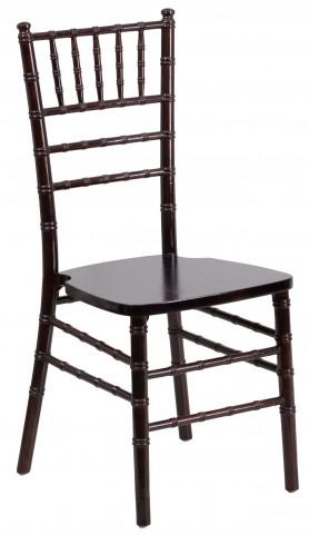 Flash Elegance Walnut Wood Chiavari Chair