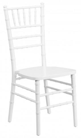 Flash Elegance White Wood Chiavari Chair