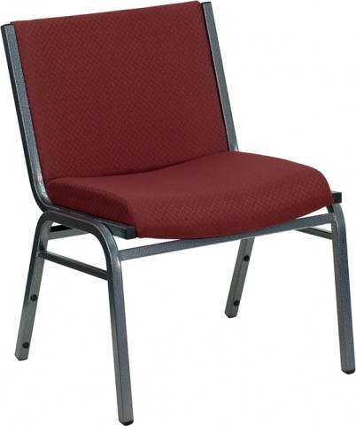 Hercules Big and Tall Extra Wide Burgundy Fabric Stack Chair