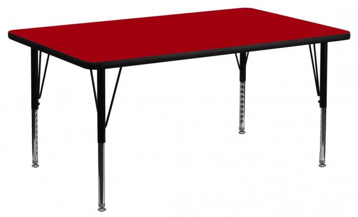 "24"" Rectangular Pre-School Red Activity Table"
