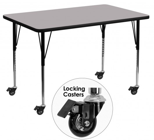 """Mobile 48""""L Rectangular Gray Activity Table"""