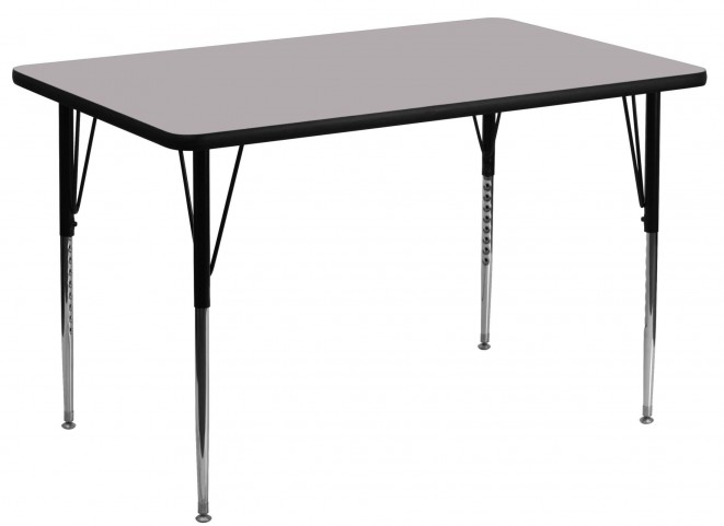 "48""L Rectangular Gray Activity Table"