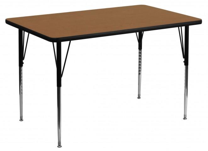 """48""""L Rectangular Oak Activity Table"""