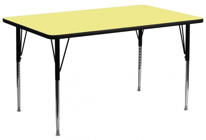 "30""W x 72""L Rectangular Yellow Activity Table"