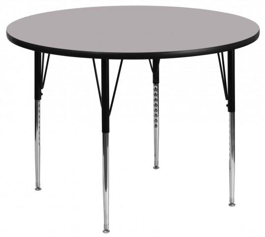 "42"" Round Gray Activity Table"