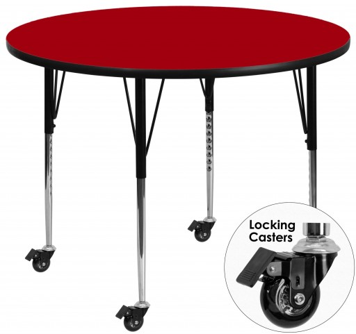 "Mobile 42"" Round Red Activity Table"