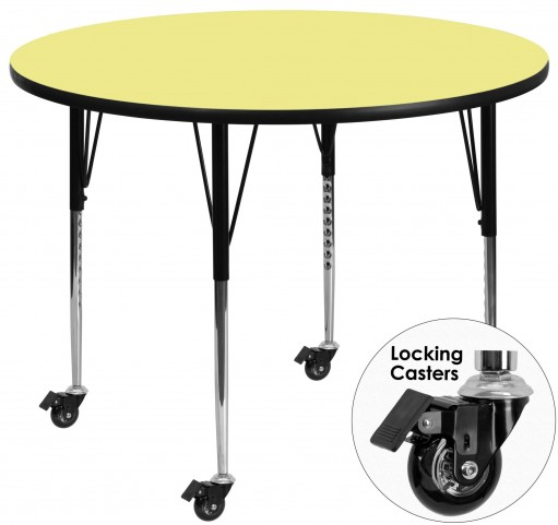 """Mobile 42"""" Round Yellow Activity Table"""