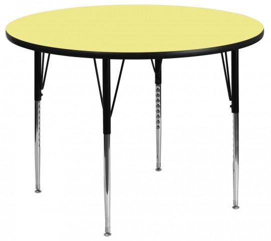 "42"" Round Yellow Activity Table"