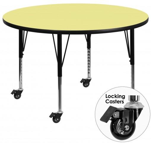"Mobile 42"" Round Pre-School Yellow Activity Table"